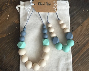 Mommy and Me, Teething Necklace, Nursing Necklace, gifts for her