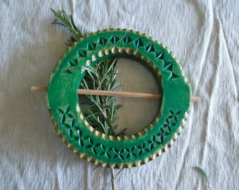 Green wooden TIEBACKS for home decor