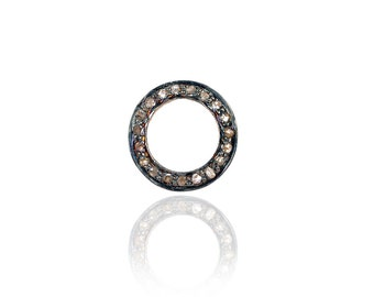 SDC-1066 Connector-Pave diamond charm