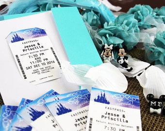 Holders and Envelopes for Fastpass Wedding Save the Dates
