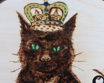 Cat King Clock