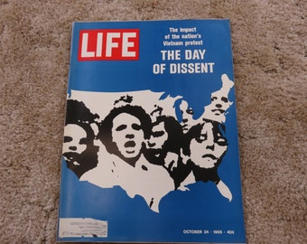 Vintage LIFE magazine, October 24, 1969, The Day of Dissent: The Impact of the Nation's Vietnam Protest