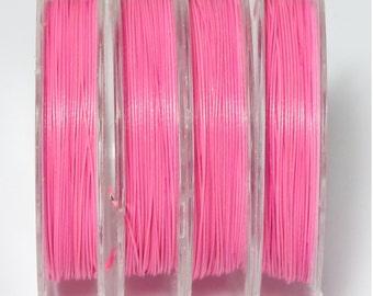 10 meter wire Nylonummantelt 0, 38 mm in pink matte