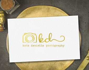 Gold Photography logos and watermarks/  gold photographer logo / gold brand logo/ camera photography logo / wedding photographer logo