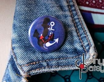 Badge pattern wax anchor Sailor