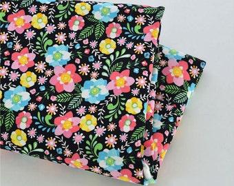 """Floral Linen Cotton Fabric 19.5"""" x 55"""" JJ390"""