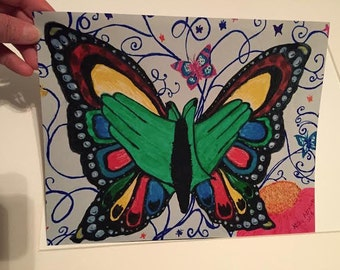 """Sign """" Butterfly"""" 8x10 Print"""