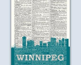 Winnipeg Skyline, Winnipeg Poster, Winnipeg Decor, Winnipeg Print, Winnipeg Wall Art, Winnipeg Gift, Winnipeg Canada, Winnipeg Skyline Art