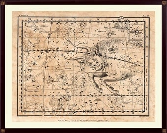 Taurus Constellation Print, Astrological Sign, Astronomy Decor, Constellation Map, Zodiac Poster, Astrology Gifts, Astronomy Art