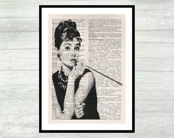 Audrey Hepburn - Art Home Decor - Art Print - Wall Decor  - DIN A4