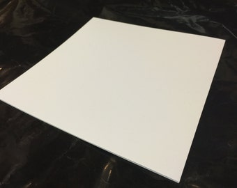 "White Polystyrene Sheeting .010""Thick x 6""x6"""