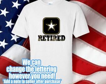 Army Retired Tshirt -