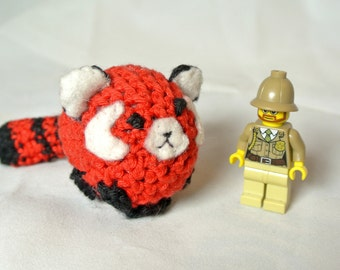 Adorable crocheted red panda!