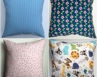 16x16 Pillow Covers, Decorative Pillow Covers, Nursery, Kids Room, RTS