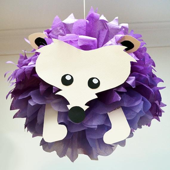 Hedgehog Classroom Decor ~ Hedgehog tissue paper pom animal by pomlemoose on etsy