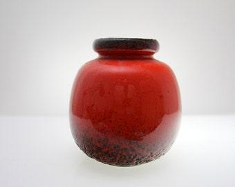Gorgeous  Scheurich vase 284-19, West German Pottery, WGP, Fat Lava