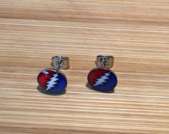 Stealie earring studs sterling silver!