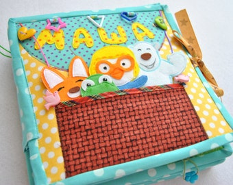 Pororo vintage Quiet book Toddler quiet book Felt book Children quiet book Education Gift for baby Personalized quite book Busy book