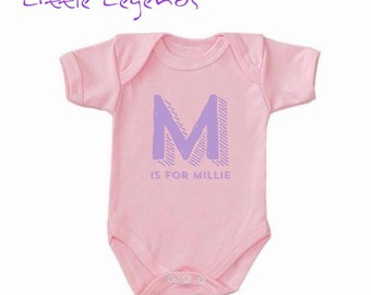 Personalised baby vest, new baby, birthday gifts, any colour font