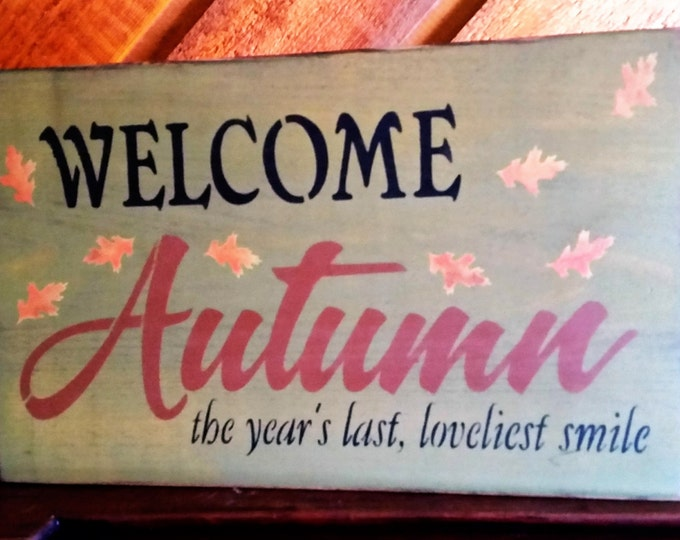 Primitive Welcome Autumn Sign