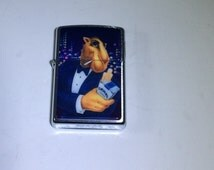 Camel Joe Zippo Lighter, Tuxedo Joe with Cigarette Pack, Vintage Zippo Lighter, Smoking Collectible, Smoker Acessory, Gift for Dad