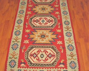 Sharkoy Small vintage  kilim rug 70x36 inch / 178x91 cm kilim Turkish