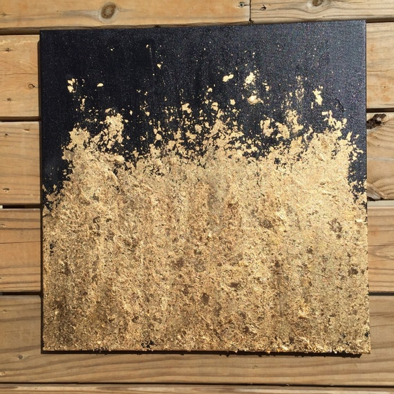 Contemporary Gold Leaf Painting Original Abstract Modern