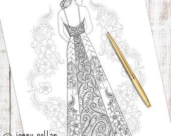 Adult Colouring Page Honour
