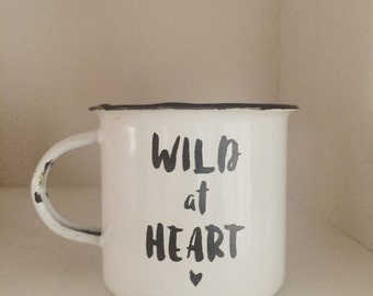 Wild at Heart Enamel Mug