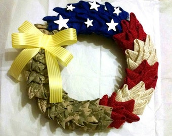 Military Wreath without wooden letter
