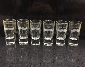One Single (1) Etched Shot Glass, Groomsman, Bestman Gifts, Groom, Grooms Party, Wedding