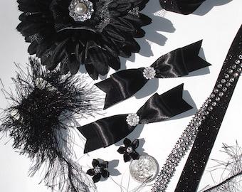Inspiration Embellishment Kit, Silk Flowers, Satin Bows, Papercrafts, Hair Bows, Hats, Scrapbooking, Needlecrafts, Rhinestones, Fun Fur