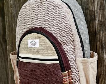 Himalayan Hemp backpack; PureHemp Co.