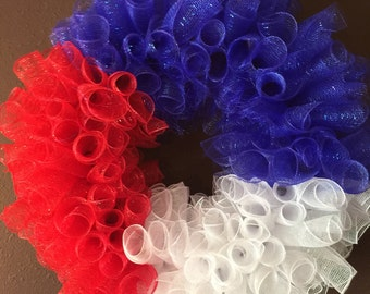 Red,White & Blue/ 4th of July Wreath/ Memorial Day Wreath