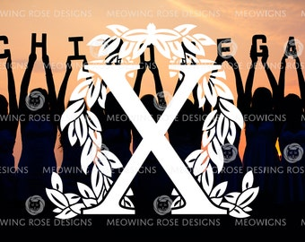 Chi Omega | vinyl decal for laptops, car windows, water bottles, just about anywhere!
