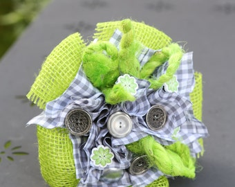 Small bouquet grey/green