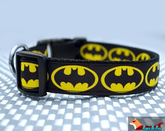 The Dark Pup Batman Dog Collar