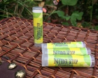 "Apple Cider Lip Balm- Natural and Handmade- ""InCider Scoop"""