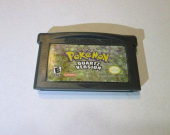 Pokemon Quartz fan made hack game cartridge Gameboy Advance hack