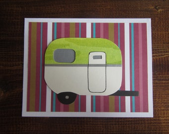 Patterned Caravan Camper Boler Card