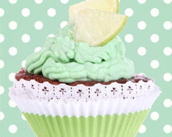 Frosted lime cupcake