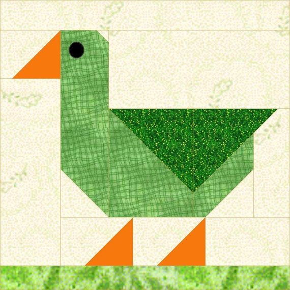 Patch duck quilt block