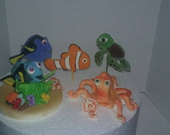 finding Dory inspired cake toppers / cupcakes Decorations