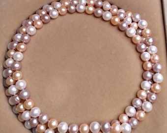 50-inch  9.0-9.5mm Multicolor Freshwater Pearl Necklace