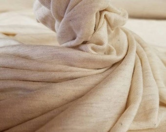 Bamboo 4 way spandex Oatmeal Eco-Friendly NATURAL FiBER by the yard 7.5oz