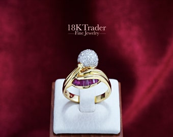 18K gold Ruby Ring