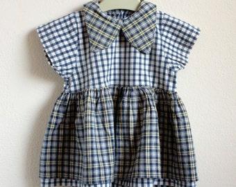 Baby girl dress, vintage baby dress, retro baby dress