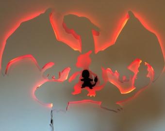 Charizard evolution wall light