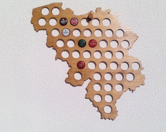 Belgium beer map,gift, perfect gift for clubs, bars, beerhouses, pubs, at home, garage