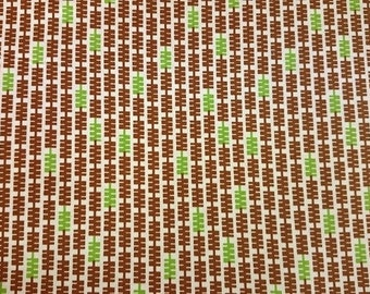 """Andover Fabrics  Squiggle Stripe   """"In Plain Sight"""" by Kathy Hall/Abstract Stripe in Brown and Green"""